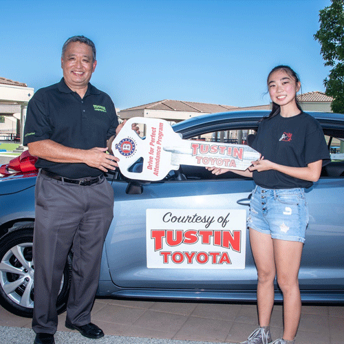 Beckman Graduate Kellie Yada Wins New Car in Tustin Toyota's