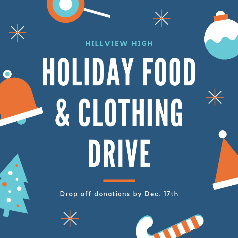 Hillview High Holiday Food & Clothing Drive
