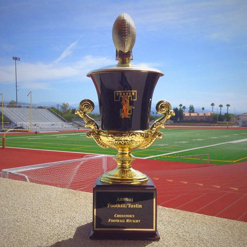 FHS vs THS rival football game trophy