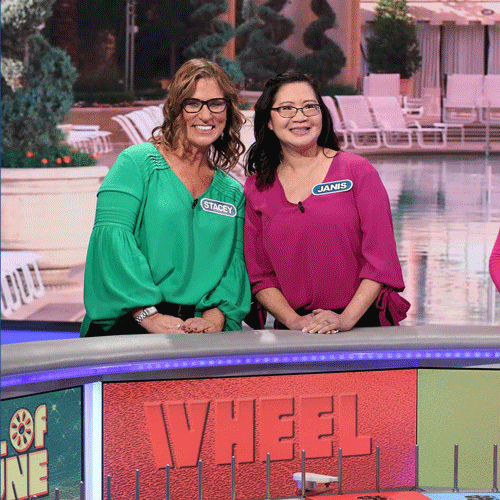 Arroyo Teachers, Stacey Duff and Janis Leach, on Wheel of Fortune.