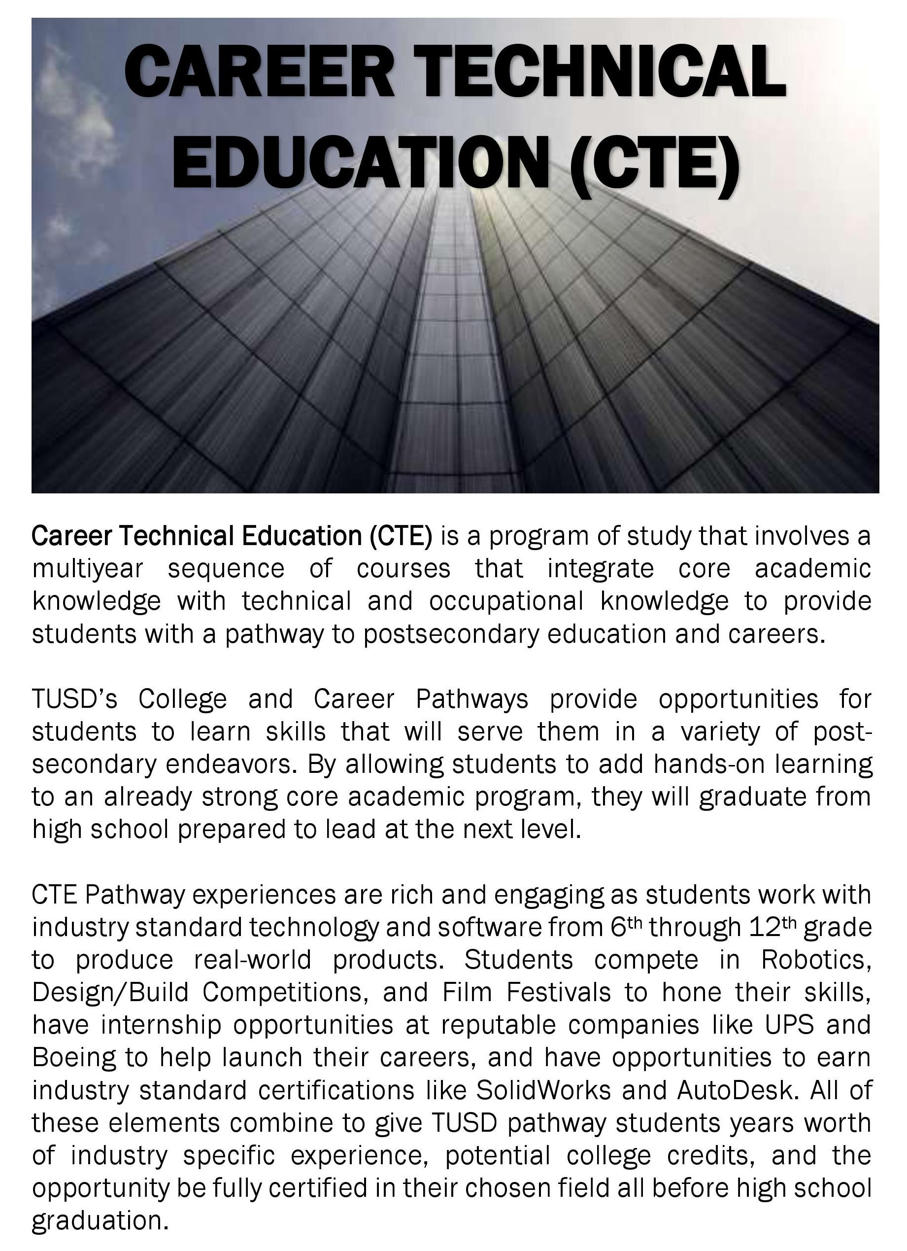 Career Technical Education CTE