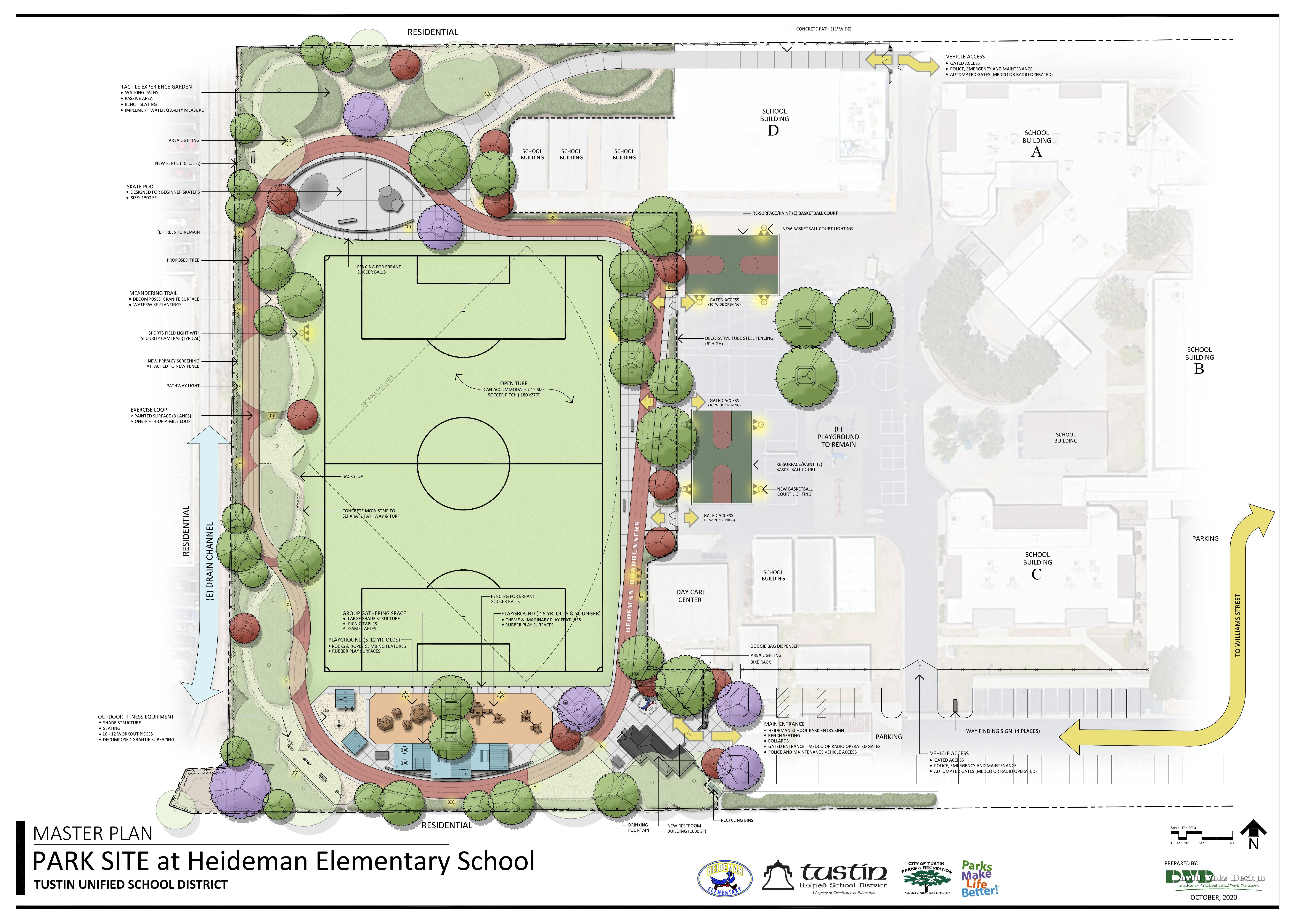Map of Proposed Joint Use Park at Heideman Elementary