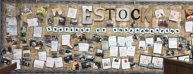 Photo of Estock Elementary Board Room Display