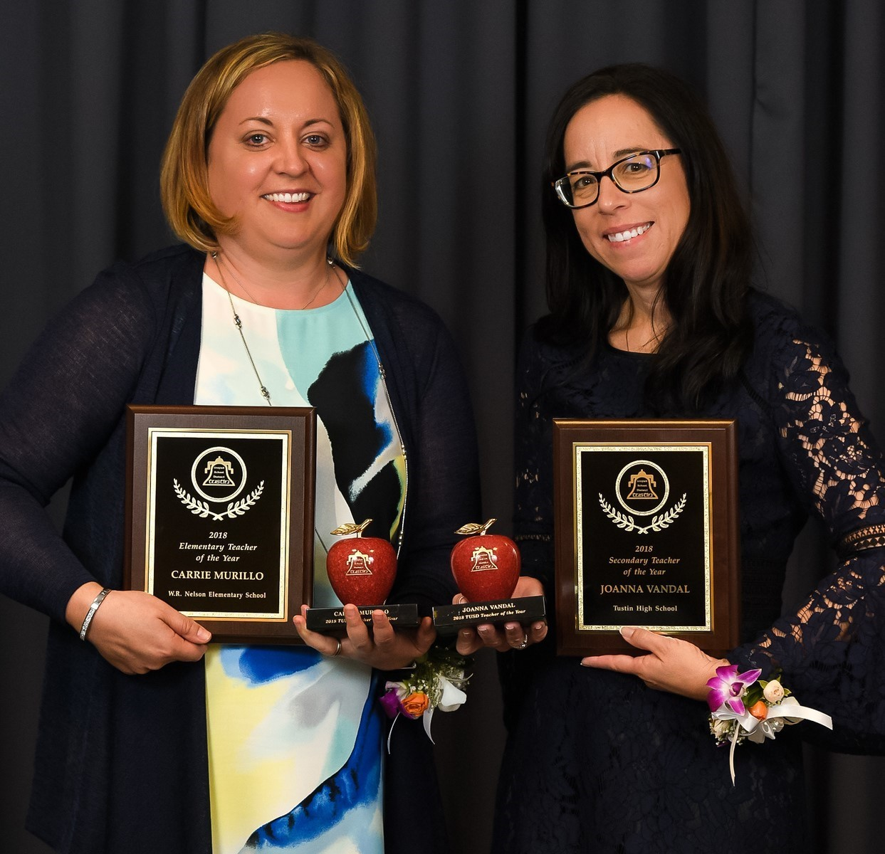 Teachers of the Year Carrie Murillo & Joanna Vandal