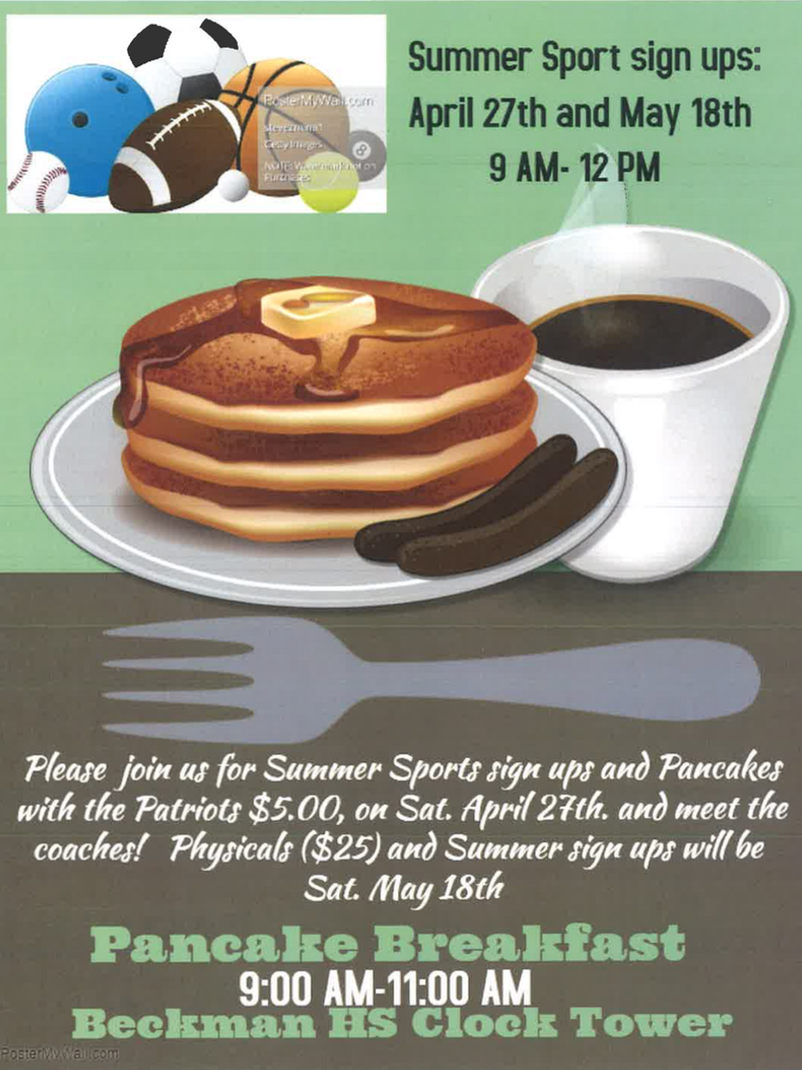 2019 Pancakes with Patriots & Summer Sports Sign Ups