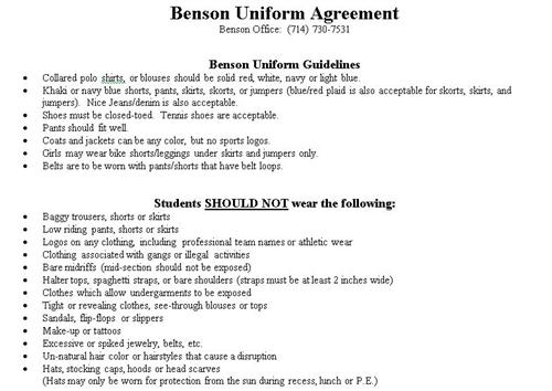 Uniform Guidelines form