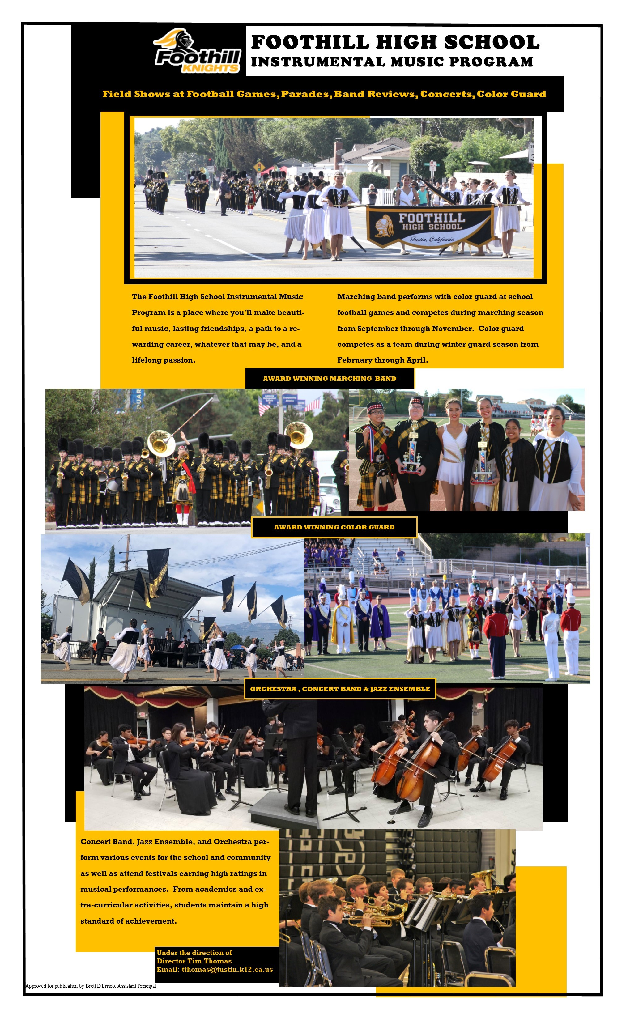 Band Program Flyer