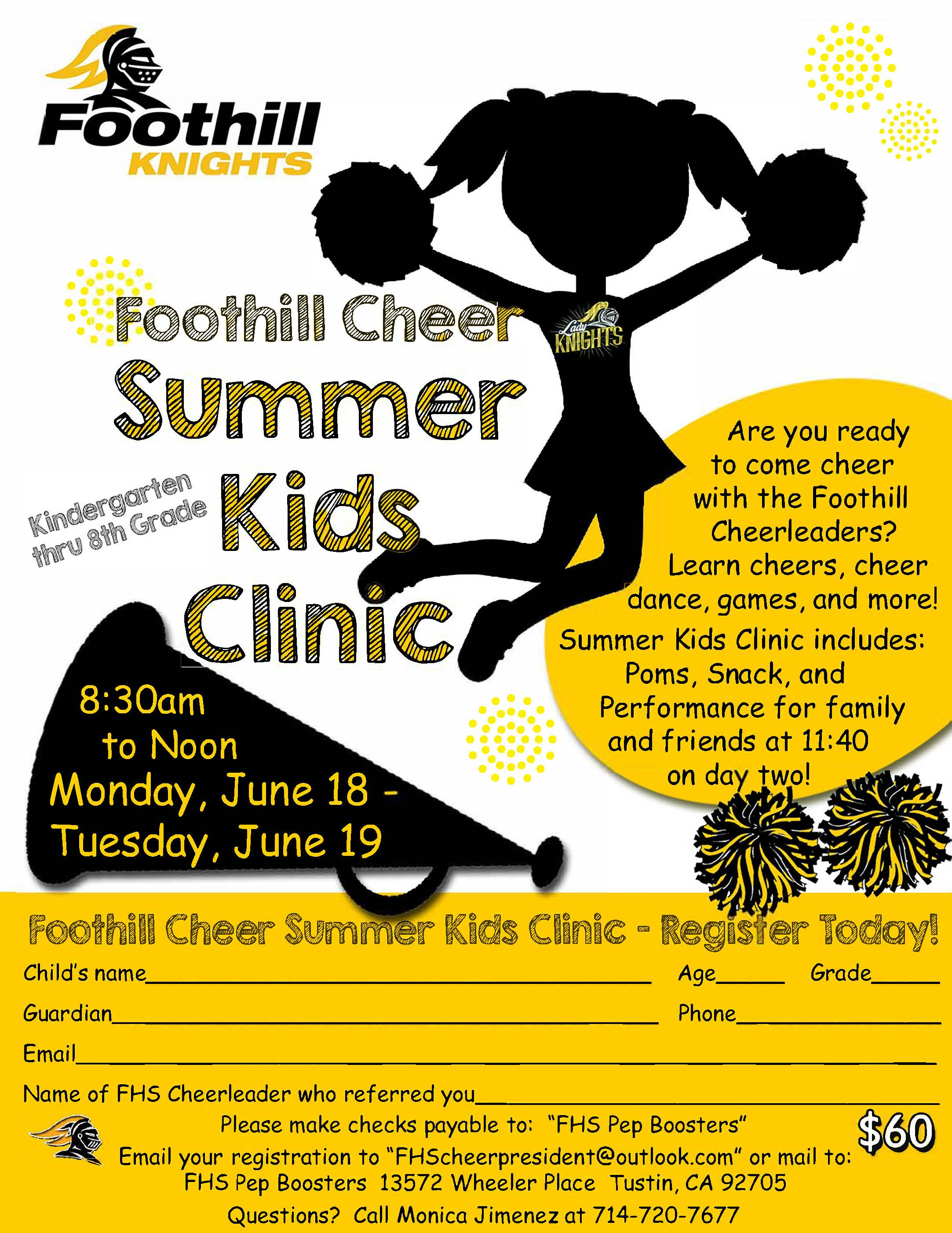 Cheer Kids Camp flyer