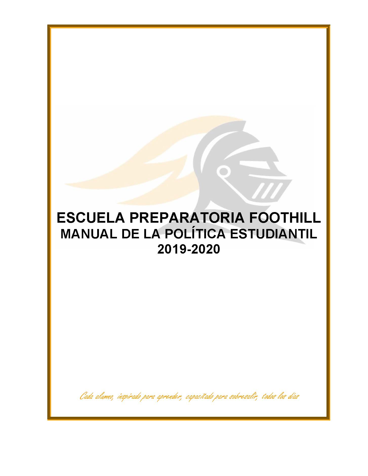 Student Policy Pamphlet cover image