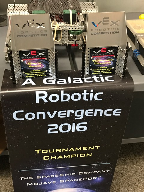 Galactic Robotic Tournament Champion Award