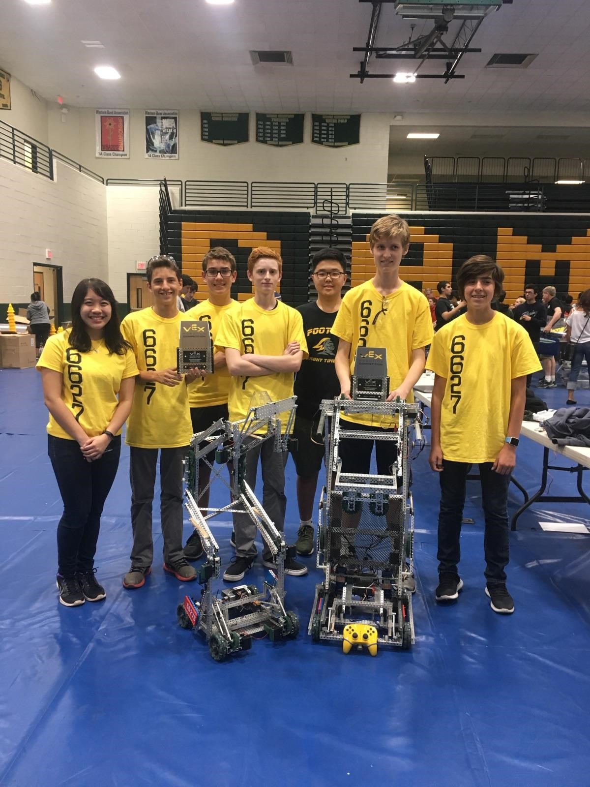 Team 6627A and 6627B after winning the tournament