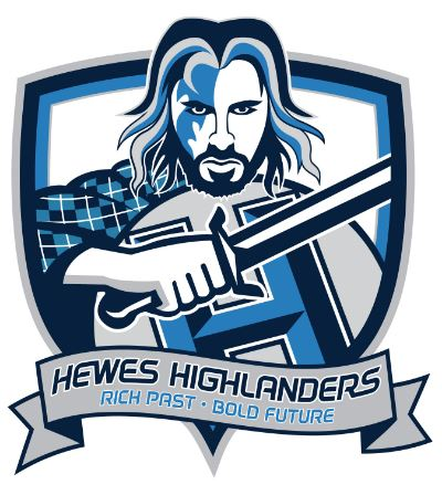 Hewes Highlander logo - Rich Past, Bold Future