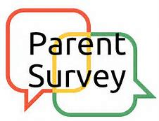 Two talk bubbles with Parent Survey title