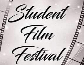 Photo of film-like background overwritten with 'Student Film Festival'