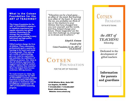 Cotsen Foundation's Art of Teaching Flyer