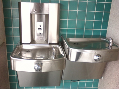 New Drinking Fountains at Myford Elementary