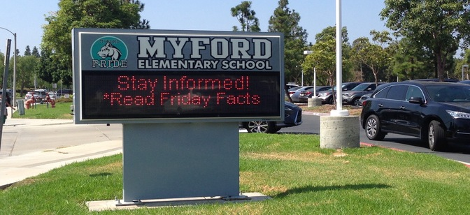 Friday Facts at Myford Elementary