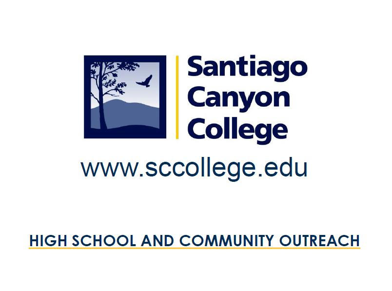 Santiago Canyon College Workshop Preview