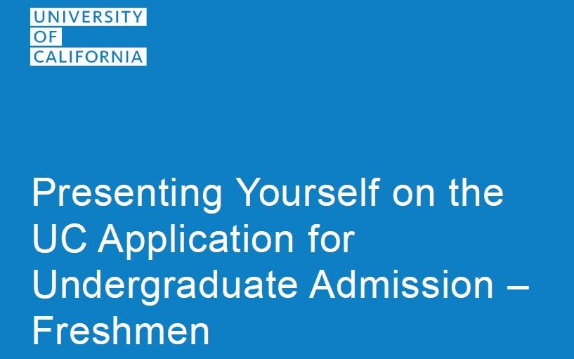 UC Application Workshop preview