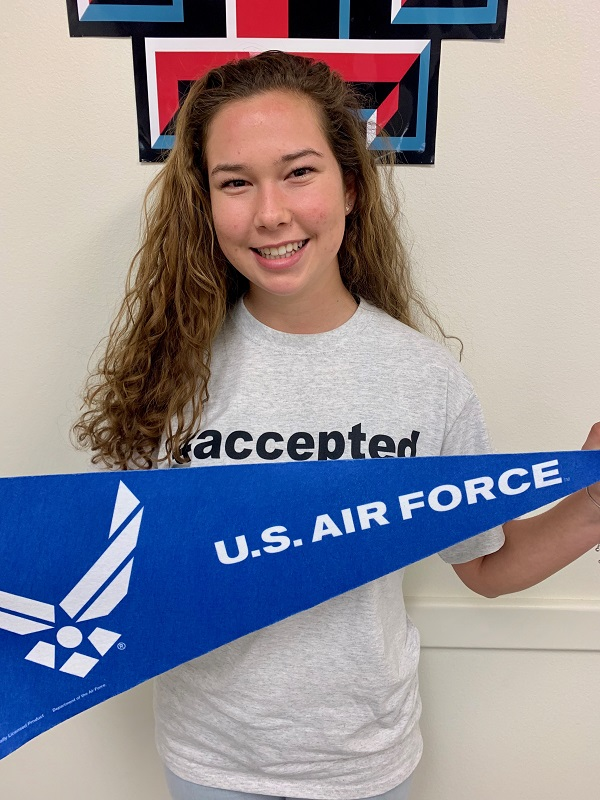 Annemarie Denning, Accepted to the US Air Force Academy