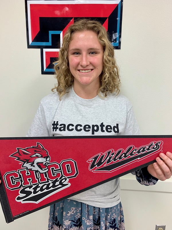 Caylee Hermanson, Accepted to Chico State