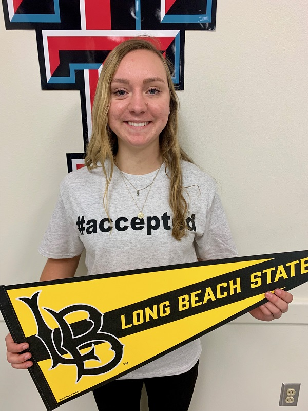 Chloe Carraway, Accepted to Cal State Long Beach