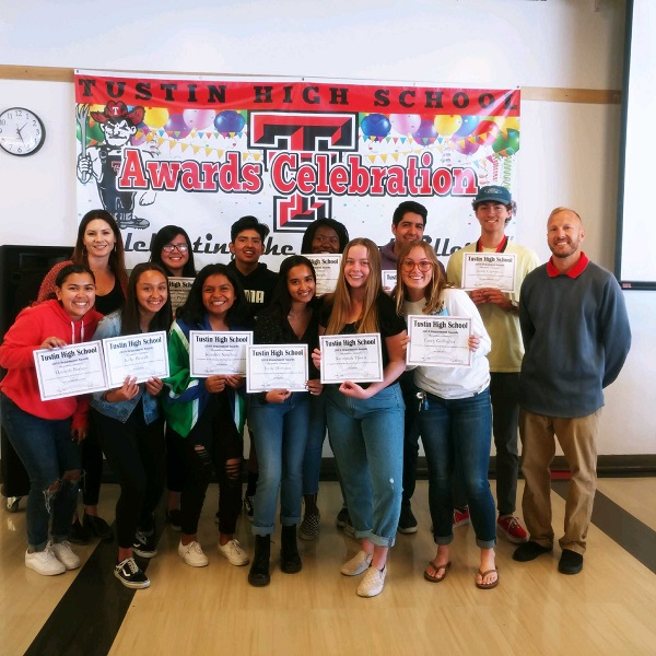 ASB award recipients and their advisors