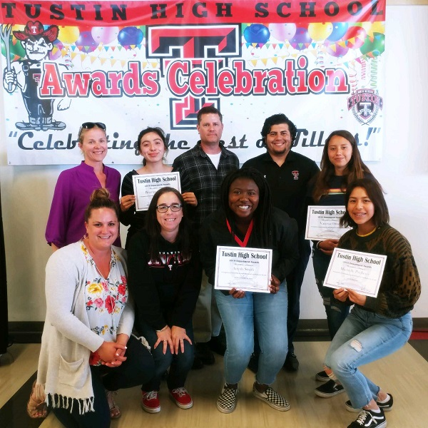 AVID award recipients and their teachers