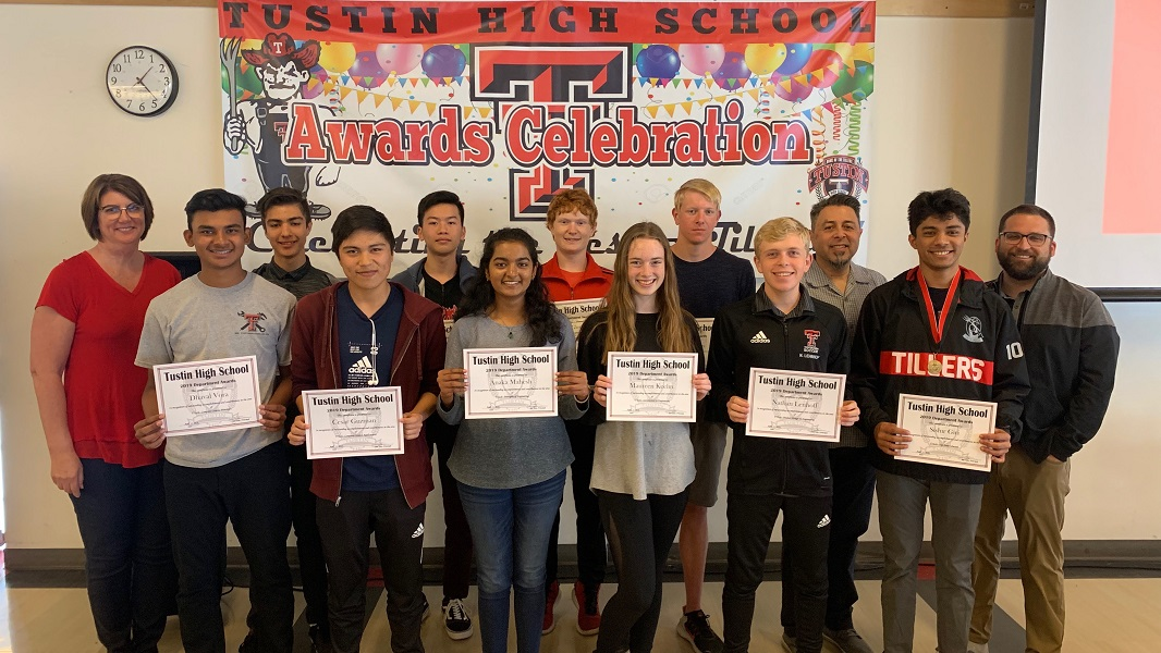 T-Tech award recipients and their teachers