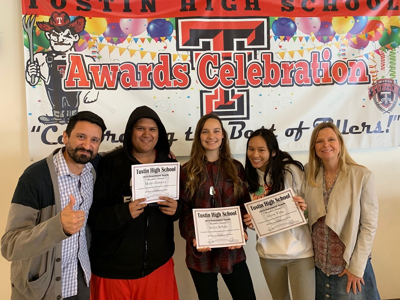 Tiller Media network award recipients and their advisors