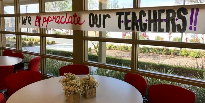 Image of Teacher Appreciation Sign