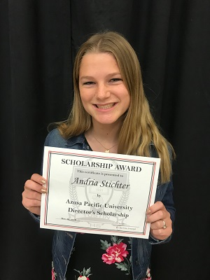 2018 APU AG Director's Scholarship recipient