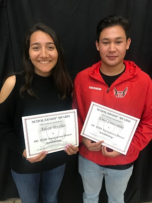 2018 OC AVID Anonymous Donor Scholarship recipients