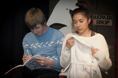 Male and Female student in winter play 2018